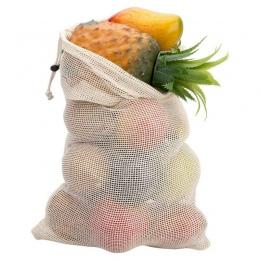 3 rozmiar wielokrotnego użytku z bawełny warzyw strona główna kuchnia owoce i warzywa do przechowywania worki siatkowe ze sznurk
