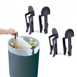4 sztuk/partia praktyczne kosz na śmieci klipy plastikowe stałe śmieci klips do torebek naprawiono uchwyt worka worka śmieci zac