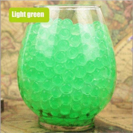 100 sztuk/partia duża hydrożel w kształcie perły duże 2-3 cm zielony kryształ wodne kuleczki do gleby błoto rosną Ball ślubne Or