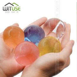 WITUSE 100 sztuk/partia duża hydrożel w kształcie perły duże 3-4 cm kryształ wodne kuleczki do gleby błoto rosną Ball ślubne Orb