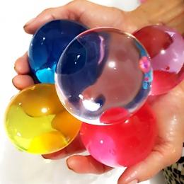 50 sztuk/partia duża hydrożel w kształcie perły duża 6-8mm kryształ wodne kuleczki do gleby błoto rosną Ball ślubne Orbeez upraw