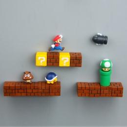 Super Mario DIY lodówka lodówka magnes telewizor z dostępem do kanałów FC gry z dzieciństwa japonia Cartoon do gier Cartoon 3D p
