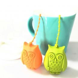Kreatywny Cute sowa sitko do herbaty herbaty torby żywności klasy silikonowe luźne zaparzacz herbaty liściastej filtr dyfuzor za