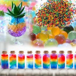 100 sztuk/zestaw krystaliczne błoto hydrożel Orbeez kryształ gleby wody na zewnątrz koraliki wazon gleby rosną magiczne piłki dl