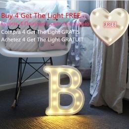 Luminous list noc światła Led kreatywny 26 alfabetu angielskiego numer Led akumulator lampy romantyczny ślub strona dekoracji Dr