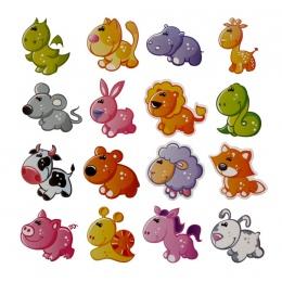 16/10/4 sztuk Cartoon zwierząt lodówka pamiątkowy magnes dla dzieci śliczny samochód warzyw Emoji naklejki na lodówka magnesy na