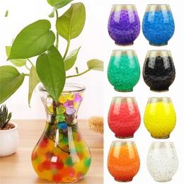 10 torby 1000 sztuk Multicolors kryształ gleby roślin kwiat galaretki błoto wody koraliki dla roślin perły wazon żel kulki do de