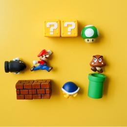10 sztuk 3D Super Mario Bros. Magnesy na lodówkę lodówka naklejki naklejki śmieszne dziewczyny chłopcy dzieci dzieci Student zab