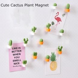 6 sztuk/zestaw Magnesy Na lodówkę śliczne kaktus soczyste roślin przycisk magnes kaktus lodówka wiadomość naklejka do wystroju M