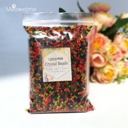 12000 sztuk/worek wody koraliki perłowe koraliki kryształowe gleby błoto rosną Bio Gel Ball dla kwiatów roślin pistolet Aqua Gel