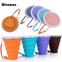 4 kolory 250 ML silikonowy kubek podróżny chowany składany kubek do kawy teleskopowy składany kubek herbaty Outdoor Sports Tour
