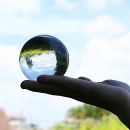 60mm/80mm/100mm Crystal Ball kwarcowy szkło bombka przezroczysta kule szklane kulki fotografia Balls Crystal rzemiosła wystrój F