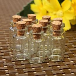 10 sztuk 24*12mm małe szklane słoiki Mason Jar wiadomość fiolki tanie korek korek butelka DIY mała szklana butelka Mini pojemnik