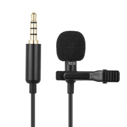 Andoer 1.45 m Mini przenośny mikrofon pojemnościowy Clip-on Lapel Lavalier mikrofon przewodowy Mikrofo/Microfon na telefon do na