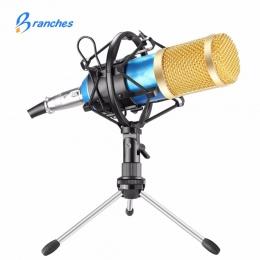 BM800 Mikrofon pojemnościowy moduł nagrywania dźwięku BM 800 Mikrofon z Shock góra dla radia Braodcasting nagrywania KTV Karaoke