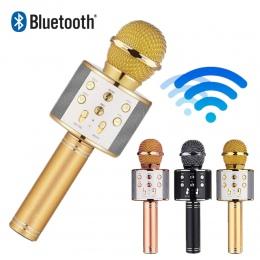 WS 858 mikrofon bezprzewodowy profesjonalny kondensator dźwięku mikrofon karaoke bluetooth stojak radio mikrofon studio studio n