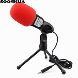 Nowy profesjonalny kondensator dźwięku dźwięk Podcast mikrofon studyjny dla PC laptopy Skype MSN mikrofon