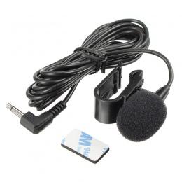 LEORY 2.5 m dookólna metalowy mikrofon 3.5mm Jack Lavalier krawat klip mikrofon Mini Audio Mic dla mowy Leture