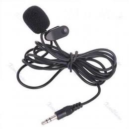 3.5mm Mini Studio mowy mikrofon mikrofon na klips na klapie dla PC Notebook 1.5 M