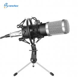 BM-800 profesjonalny mikrofon pojemnościowy zestaw: mikrofon do komputera + Shock Mount + czapka z pianki + kabel jako BM 800 mi
