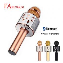 Bluetooth mikrofon bezprzewodowy WS-858 ręczny mikrofon Karaoke USB KTV odtwarzacz głośnik Bluetooth do odtwarzania muzyki zabaw