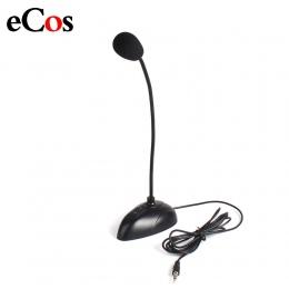 """Elastyczny statyw Mini Studio mikrofon mowy 3.5mm wtyczka typu """"gęsia szyja"""" mikrofon przewodowy mikrofon do komputera do komput"""