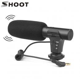 Strzelać 3.5mm Stereo aparat fotograficzny mikrofon VLOG fotografia wywiad cyfrowego wideo mikrofon do nagrań do aparatu Nikon C