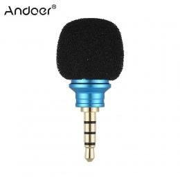 Andoer EY-610A telefon komórkowy Smartphone przenośny Mini dookólna mikrofon do rejestrator dla iPhone 5 6 Samsung Huawei
