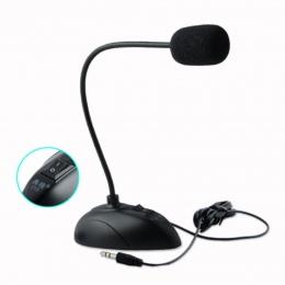 """YCDC elastyczny stojak Mini Studio mikrofon mowy 3.5mm wtyczka typu """"gęsia szyja"""" mikrofon przewodowy mikrofon do komputera do k"""