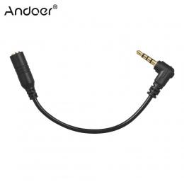 Andoer EY-S04 3.5mm 3 polak TRS kobiet do 4 biegunów TRRS męski kabel adaptera mikrofonu Audio Stereo mikrofon konwerter do smar