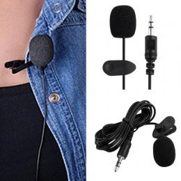 3.5mm Jack zestaw głośnomówiący wymowy mikrofon zewnętrzny klips Lapel Lavalier nauczania telefon przewodowy mikrofon pojemności