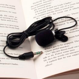 2019New 1 sztuk 30Hz ~ 15000Hz Mini 3.5mm krawat Lapel Lavalier klip na mikrofon do wykładów nauczanie hurtownie gorąca sprzedaż