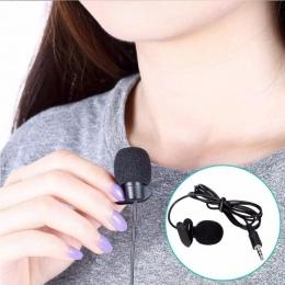 Mikrofon na klips i staje w sytuacji sam na sam mikrofon przypinany typu lavalier 3.5mm jack dla iphone smartphone nagrywania pc