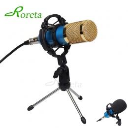Roreta BM800 komputera mikrofon przewodowy mikrofon pojemnościowy mikrofon do karaoke z Shock góra do nagrywania Braodcasting BM