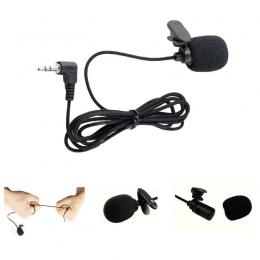 Uniwersalny przenośny Mini zestaw słuchawkowy z mikrofonem Lapel Lavalier klip 3.5mm mikrofon mowy nauczanie przewodnik konferen