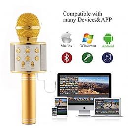 WS858 profesjonalny mikrofon bezprzewodowy pojemnościowy mikrofon karaoke bluetooth radio mikrofon mikrafon studio studio nagrań