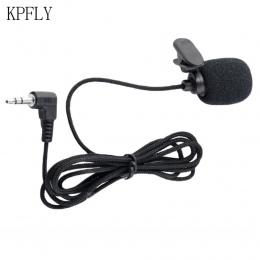 Uniwersalny przenośny 3.5mm Mini zestaw słuchawkowy z mikrofonem Lapel Lavalier mikrofon z klipsem na wykład nauczanie przewodni