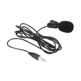 Clip-on mikrofon przypinany typu Lavalier 3.5mm Jack dla iPhone Android SmartPhone nagrywania PC zewnętrzna Clip-on Lapel Lavali