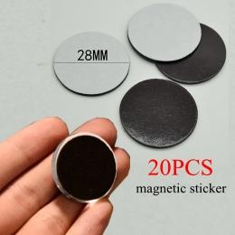 20 sztuk 23mm/28mm okrągły magnetyczne naklejki Fit szkło Cabochon 25mm/30mm magnes na lodówkę DIY magnes na lodówkę naklejka na