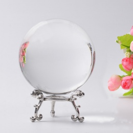60/70/80 MM fotografia kryształowa kula Ornament feng shui na całym świecie wróżby kwarcowy magiczne szkło piłka Home Decor kula