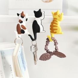 Hot New Lovely wielofunkcyjny kot kreskówka magnes na lodówkę hak lodówka naklejki kreatywne haki