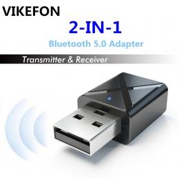 VIKEFON Bluetooth 5.0 Audio odbiornik nadajnik Mini 3.5mm AUX Stereo nadajnik Bluetooth do telewizora PC bezprzewodowy Adapter d