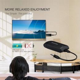 Bezprzewodowy nadajnik bluetooth dla telefonu TV PC Y1X2 Stereo kabel AUX O.26