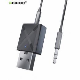 KEBIDU USB bezprzewodowy odbiornik nadajniki Bluetooth V5.0 Audio muzyka adapter stereo klucz do telewizora PC głośnik Bluetooth
