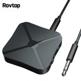 Rovtop 2 w 1 bezprzewodowy zestaw słuchawkowy Bluetooth 4.2 odbiornik Audio nadajnik do telewizora 3.5mm AUX Adapter Bluetooth d