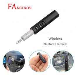 Mini AUX odbiornik audio z Bluetoothem 3.5mm bezprzewodowy odbiornik Bluetooth Adapter słuchawek bez użycia rąk do samochodu Ada