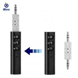 IBesi BT-2 odbiornik Bluetooth nadajnik Bluetooth AUX 3.5mm Jack Bluetooth Adapter Audio do bezprzewodowy samochodowy zestaw gło