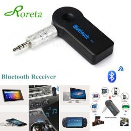 Roreta AUX 3.5mm Jack Bluetooth odbiornik samochodowy Adapter bezprzewodowy zestaw głośnomówiący Bluetooth Adapter nadajnik Auto