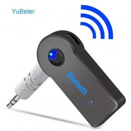YuBeter odbiornik Bluetooth 3.5mm AUX wtyk audio bezprzewodowy nadajnik Adapter muzyczny do MP3 głośnik samochodowy słuchawki gł
