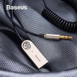 Baseus nadajnik Bluetooth odbiornik bezprzewodowy Bluetooth 5.0 samochodów AUX 3.5mm Bluetooth Adapter kabel Audio dla głośnika